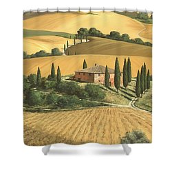 Tuscan Gold  Shower Curtain