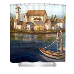 Tuscan Italian Paintings Shower Curtain