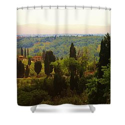 Tuscan Landscape Shower Curtain by Dany Lison
