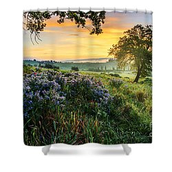 Shower Curtain featuring the photograph Tuscan Landscape by Yuri Santin