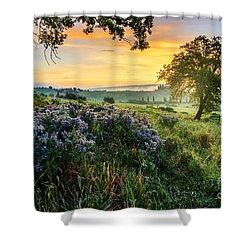 Tuscan Landscape Shower Curtain by Yuri Santin