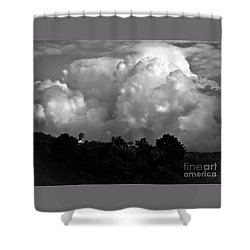Tuscan Storm Rising From The Valley Shower Curtain