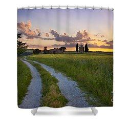 Tuscan Sunset Shower Curtain by Brian Jannsen