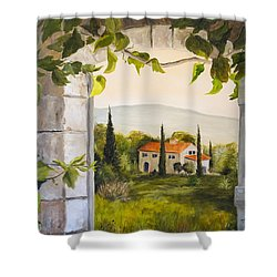 Tuscan View Shower Curtain by Alan Lakin