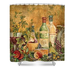 Tuscan Wine Treasures Shower Curtain by Jean Plout