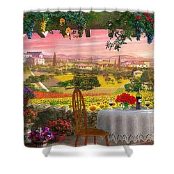Tuscany Hills Shower Curtain by Dominic Davison