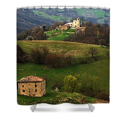 Tuscany Landscape 3 Shower Curtain by Bob Christopher