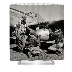 Tuskegee Preflight Shower Curtain by Benjamin Yeager
