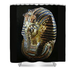 Tutankamon's Golden Mask Shower Curtain by Leena Pekkalainen