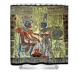 Tutankhamon's Throne Shower Curtain