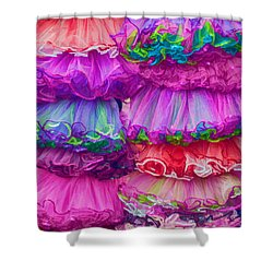 Tutus By The Dozen Shower Curtain by Kathleen K Parker