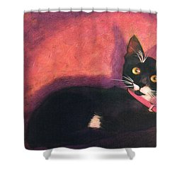 Tux Shower Curtain by Blue Sky