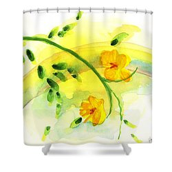 Shower Curtain featuring the painting 'twas By Grace by Holly Carmichael