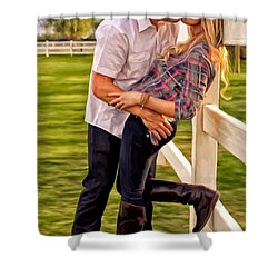 Twas Not My Lips You Kissed But My Soul Shower Curtain by Michael Pickett