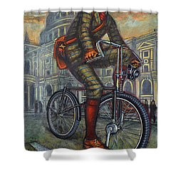 Bob On His Bantam St Pauls London Shower Curtain