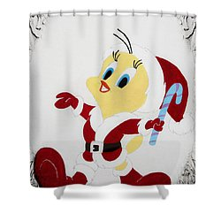 Tweety Christmas Shower Curtain