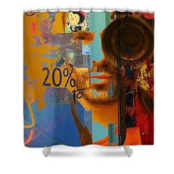 Twenty Percent Of Creativity  Shower Curtain by Empty Wall
