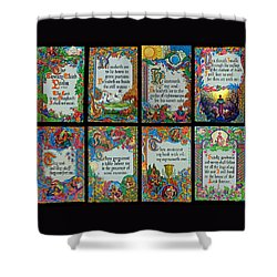 Twenty Third Psalm Collage 2 Shower Curtain