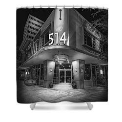 Twiggs 514 Indigo Shower Curtain by Marvin Spates