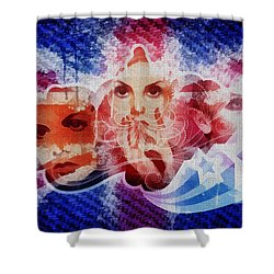 Twiggy Shower Curtain by Mo T