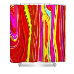 Shower Curtain featuring the painting Twiggy Stripes C2014 by Paul Ashby