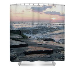 Twilight At Cape May In October Shower Curtain by Eric  Schiabor