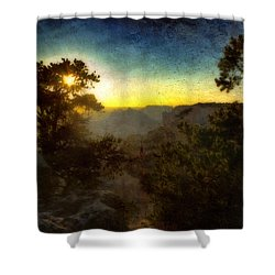 Twilight At The Canyon Shower Curtain by Ellen Heaverlo