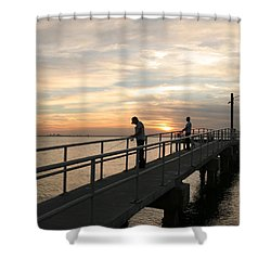 Twilight Fishing Shower Curtain