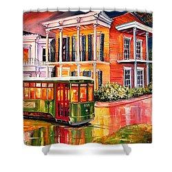 Twilight In The Garden District Shower Curtain by Diane Millsap