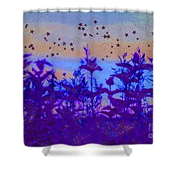 Twilight Meadow Magic Shower Curtain by First Star Art