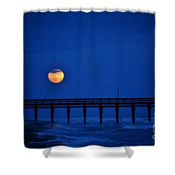 Shower Curtain featuring the photograph Twilight Moon Rise 2 by Kelly Nowak