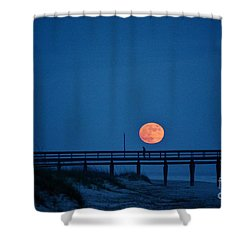 Twilight Moon Rise Shower Curtain