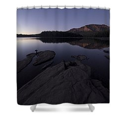 Twilight On Silver Lake Shower Curtain