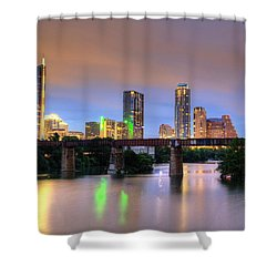 Twilight On The Lake Shower Curtain by Dave Files