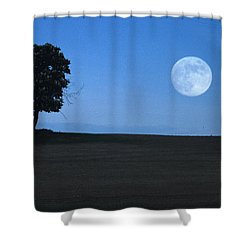 Twilight Solitude Shower Curtain by Sharon Elliott