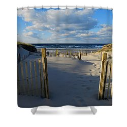 Shower Curtain featuring the photograph Golden Hour Beach by Dianne Cowen