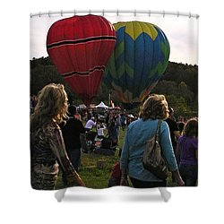 Twin Balloons Shower Curtain