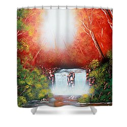 Twin Falls  Shower Curtain by Greg Moores