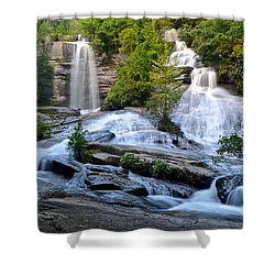 Twin Falls South Carolina Shower Curtain by Frozen in Time Fine Art Photography