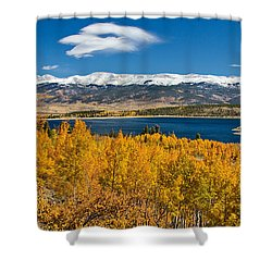 Twin Lakes Colorado Autumn Snow Dusted Mountains Shower Curtain by James BO  Insogna