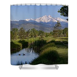 Twin Peaks View Shower Curtain by James BO  Insogna