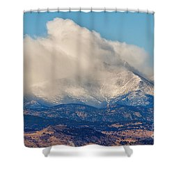 Twin Peaks Winter Weather View  Shower Curtain by James BO  Insogna