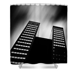 Twin Towers Shower Curtain by Dave Bowman