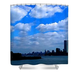Twin Towers In Heaven's Sky - Remembering 9/11 Shower Curtain