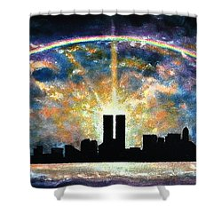 Twin Towers Live Again Shower Curtain by Thomas Kolendra