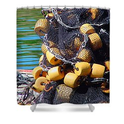 Twine And Corks Shower Curtain