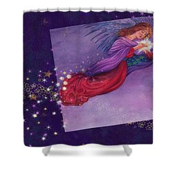 twinkling Angel with star Shower Curtain