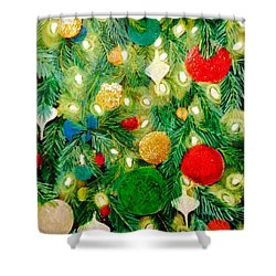 Twinkling Christmas Tree Shower Curtain