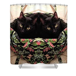 Shower Curtain featuring the photograph Twins by Luther Fine Art