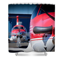 Twins Shower Curtain by Paul Job